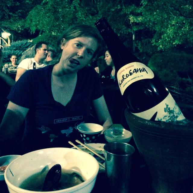 Kaitlin mit Sake
